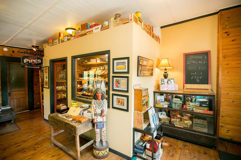 Interior Sodie's Cigar Shop, Osceola, Wisconsin. Photo by Kristina Marshall.