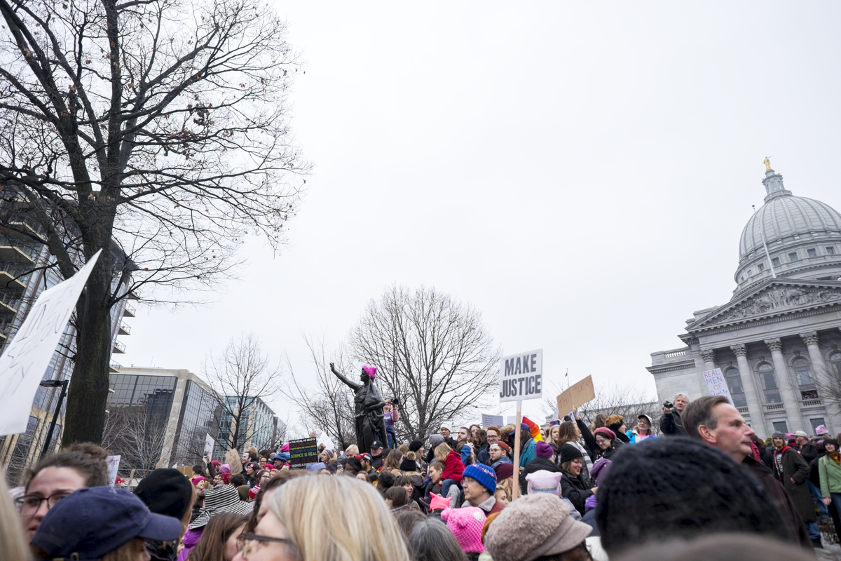 Women's March 2016 Madison, Wisconsin // katherine.ruth photography