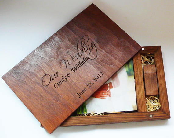 Flash Drive of Photos - Wooden flash drive of all photos in a wooden box.$800