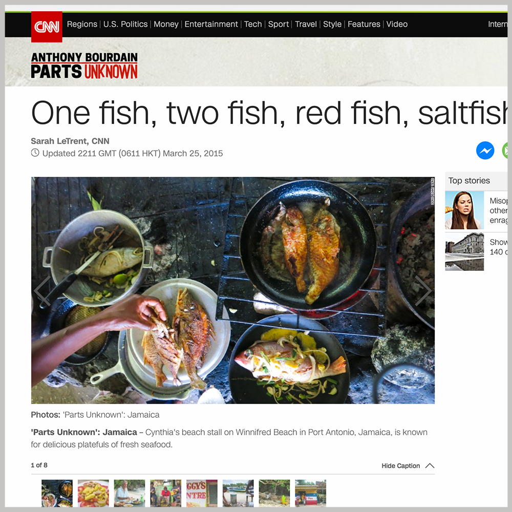 CNN  -      One Fish, Two Fish, Red Fish, Saltfish |  MARCH 25, 2015   GO TO ARTICLE