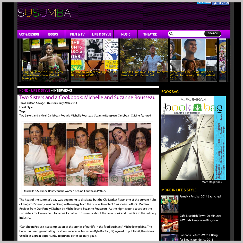 Susumba  -  Two Sisters and a Cookbook |  JULY 24, 2014   GO TO ARTICLE