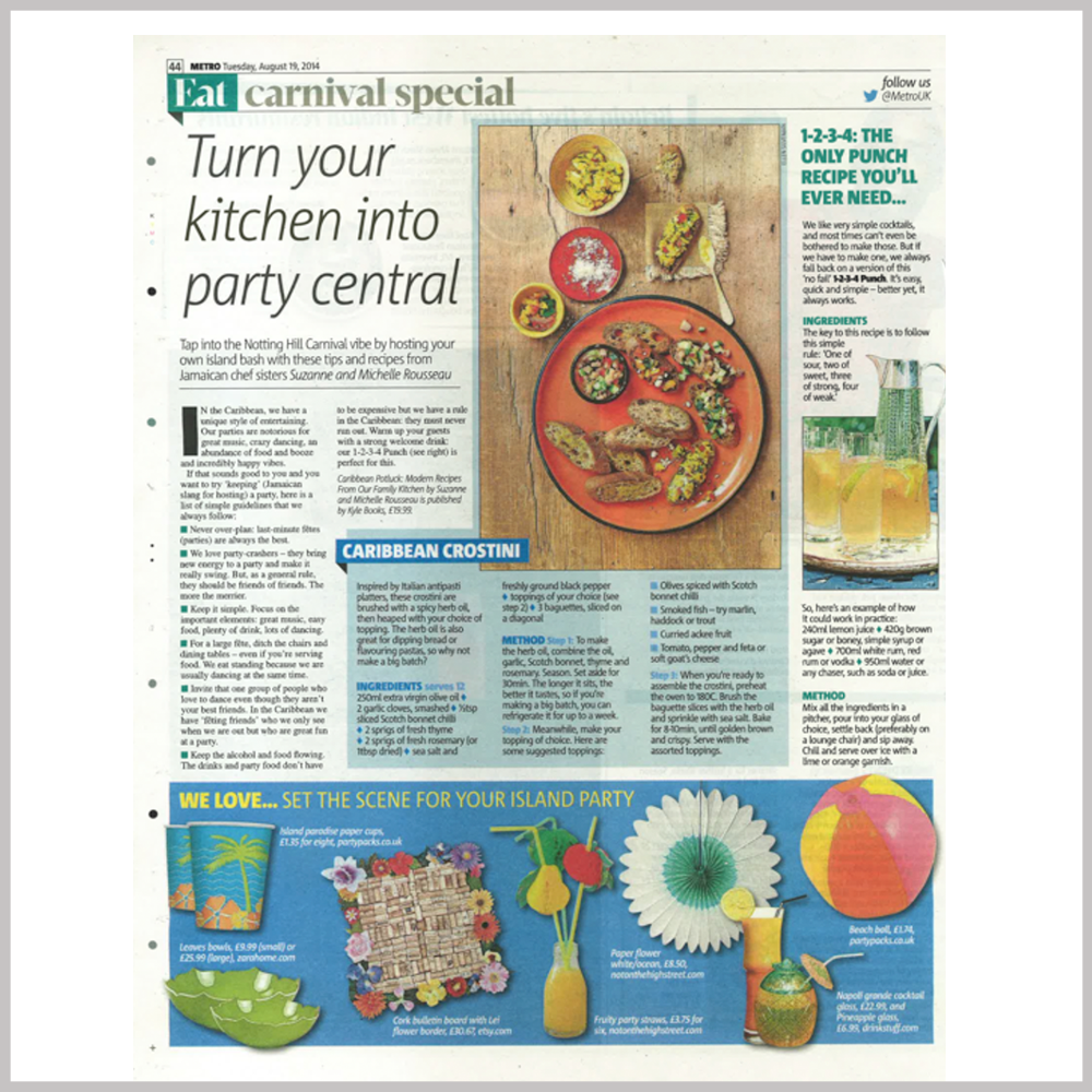 Metro Magazine  -  Turn your kitchen into Party Central |     AUGUST 19 2014   VIEW ARTICLE