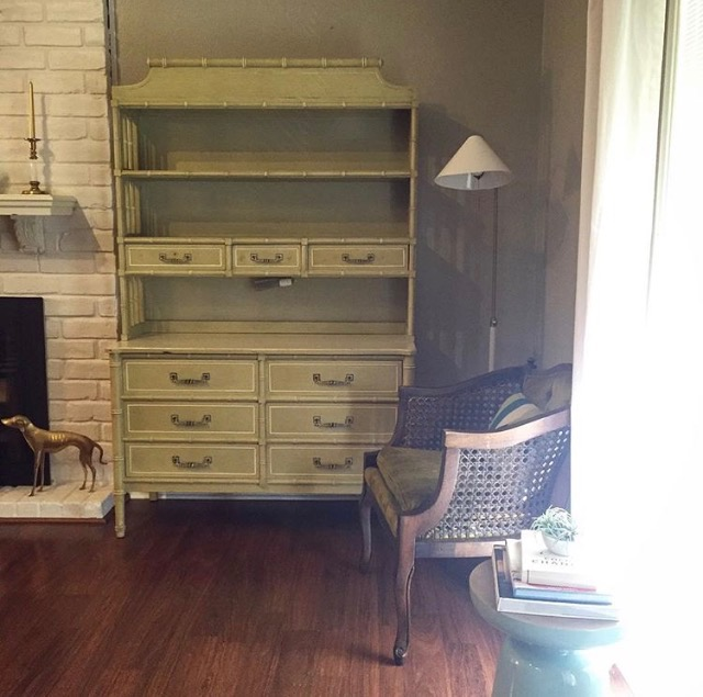 The Henry Link Bali Hai Hutch & Dresser in all her Yellow glory!