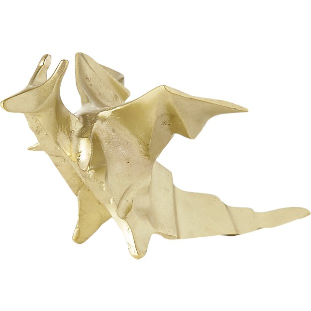 PEARL THE DRAGON - $20   Add a little whimsy to someone's holiday with this hand crafted gold dragon.