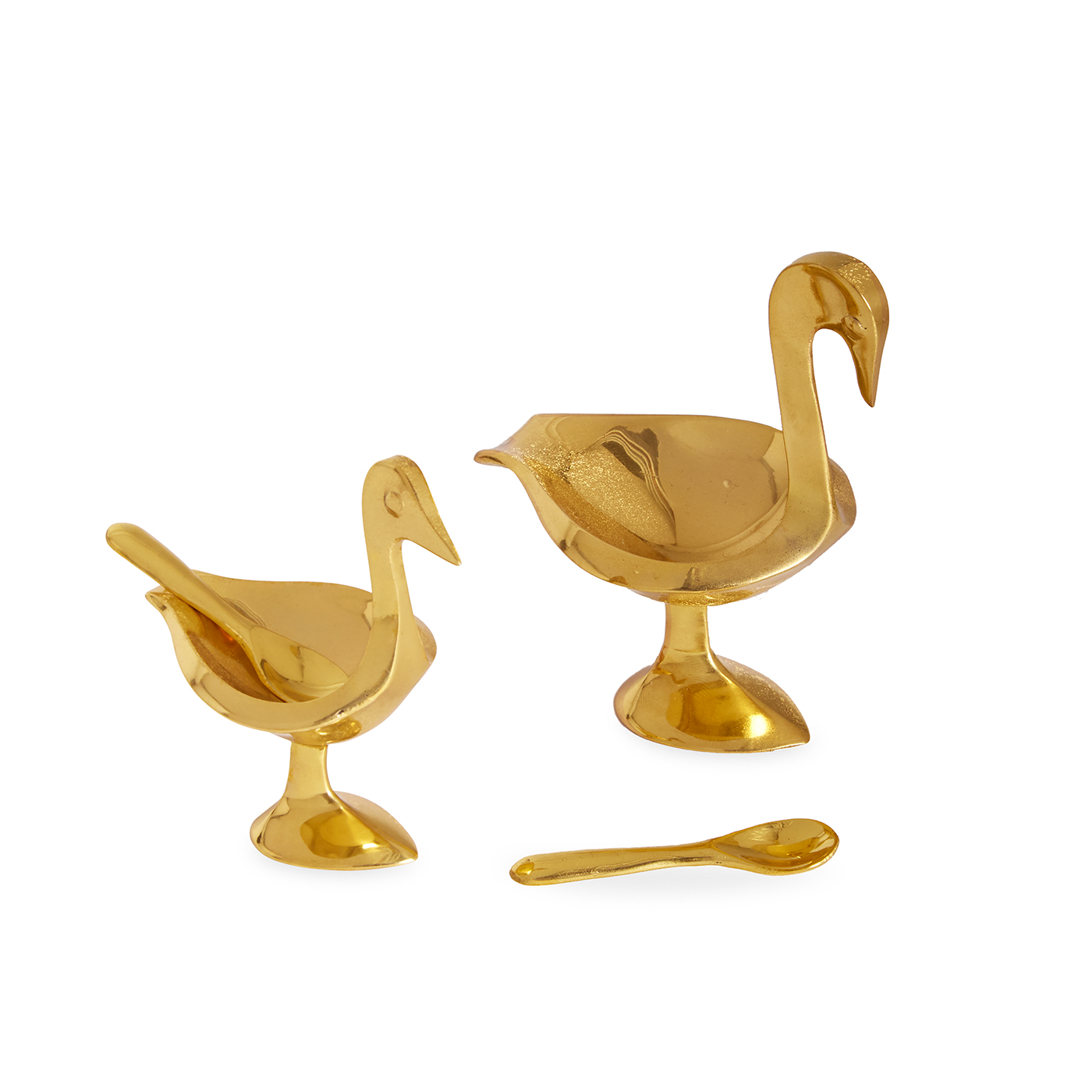 BRASS BIRD SALT CELLARS - $98   These brass bird salt cellars are the perfect way to add a little whimsy to the holiday table.