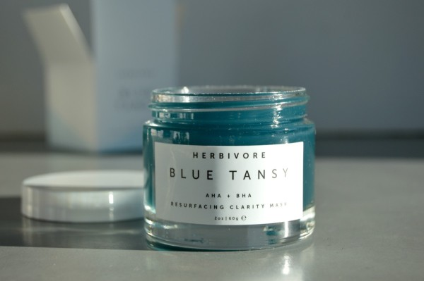 HERBIVORE BLUE TANSY RESURFACING CLARITY MASK - $48   For the skincare enthusiast - sure to become a staple in their routine.