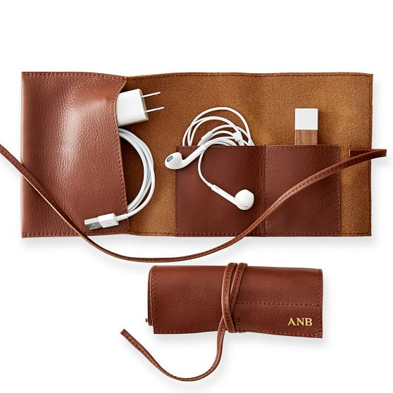LEATHER CHARGER ROLL-UP - $49