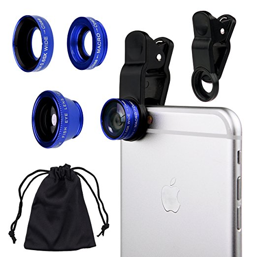 3 IN 1 CELL PHONE CAMERA LENS KIT - $13   The days of blurry selfies will be long gone with this set of lenses for his phone.