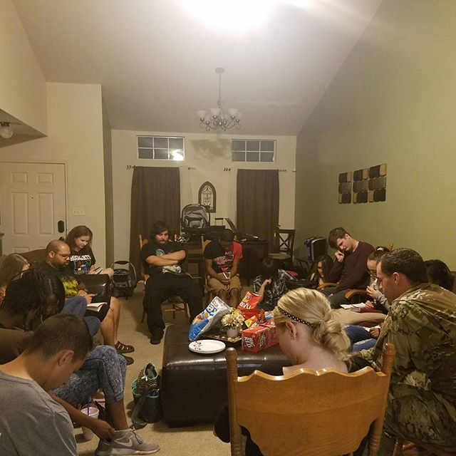 """Great night with @membckilleen young adults.""""Amped"""" #fellowship #UMHB #centraltexascollege"""