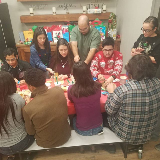 Gingerbread house contest!!! Its getting serious lol