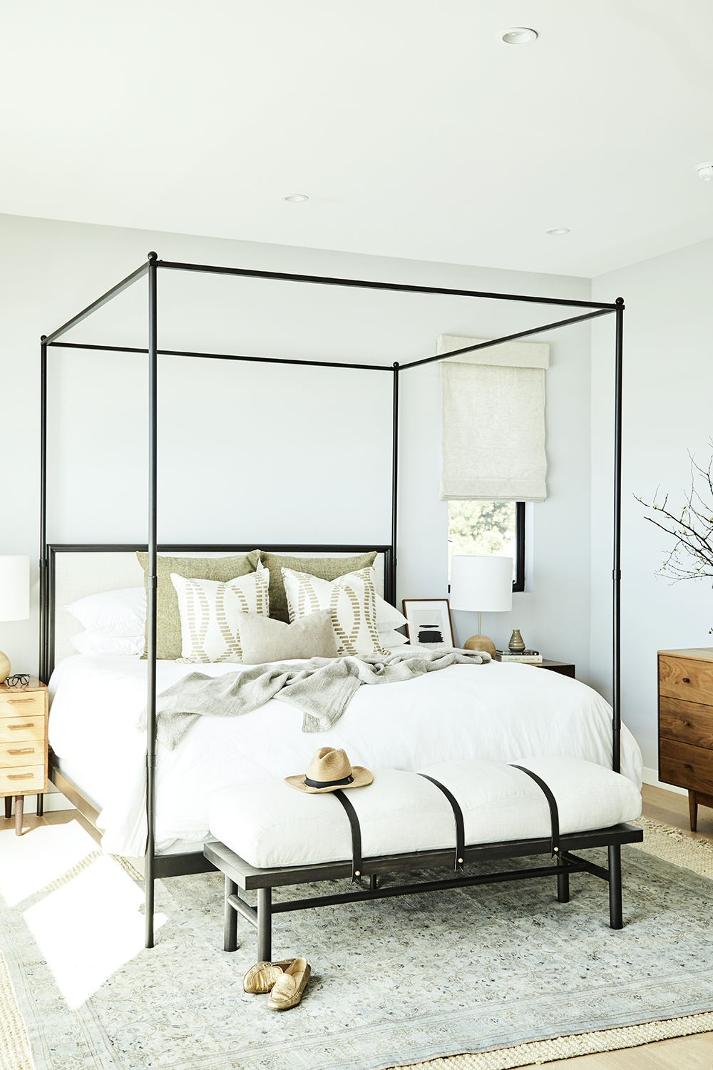 Master bedroom design layout by Carly Waters Style