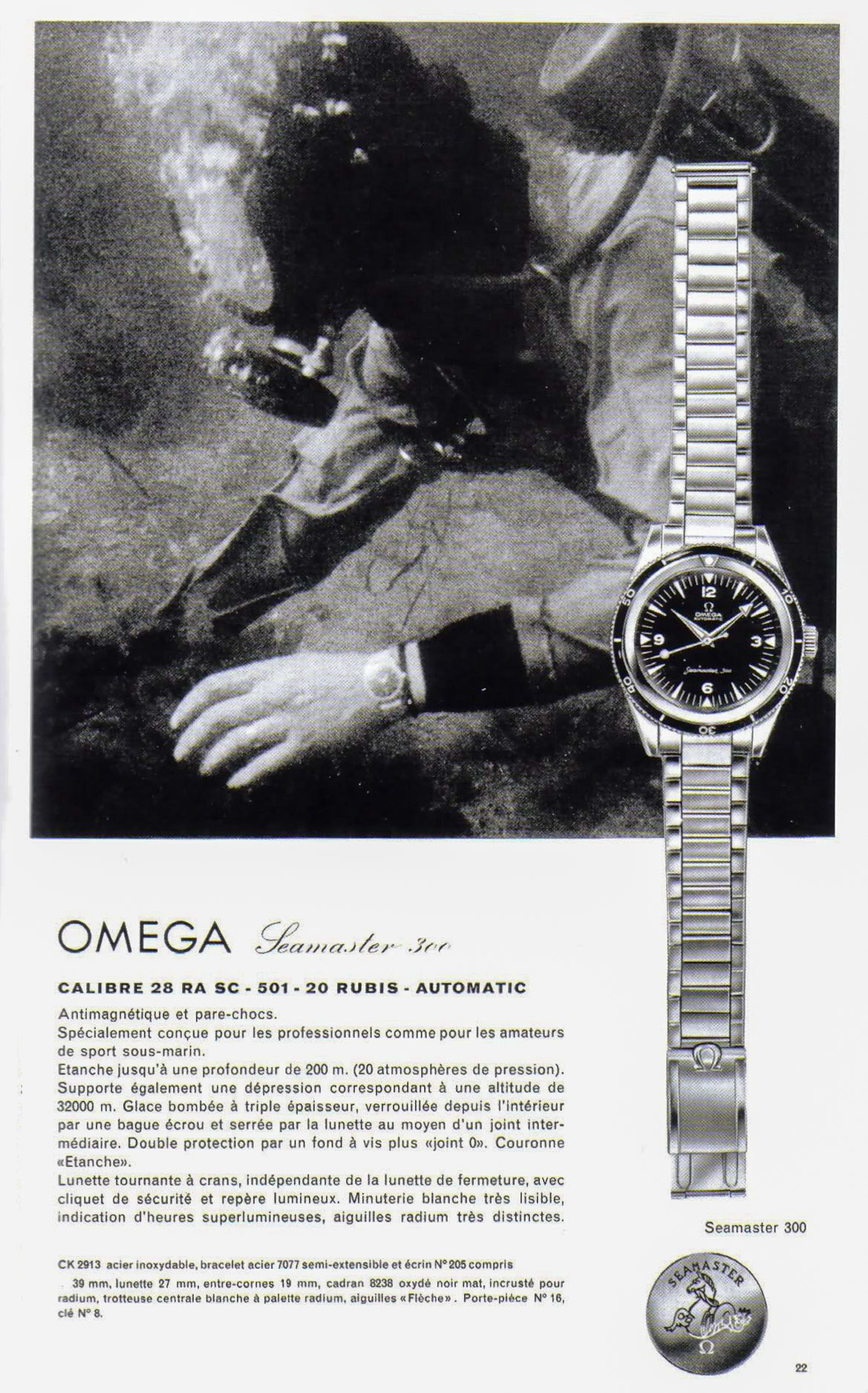 CK2913 vintage advertisement Image courtesy of Kox (Omega Forums)