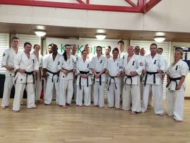 Black belts from across the BKK at Kokoro Dojo for the Black Belt Course.
