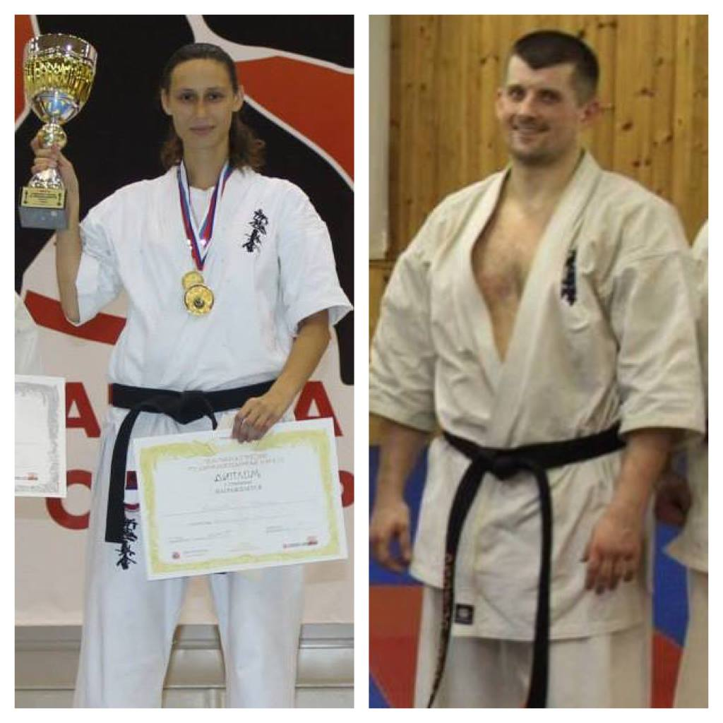 Welcome to the SC Bushido club from Moscow, Russia Shinkyokushin.  Irina Valieva Womens -60KG All Russia Cup Champion Szolnok Cup, Hungary 2015 2nd place 5th European Championships 2015 Champion 2 x 2nd place Cup of Europe +60KG  Nikolai Kravchenko 6th European Championship 3rd place Kamakura 2013 Champion IBK World Cup 2011 3rd place