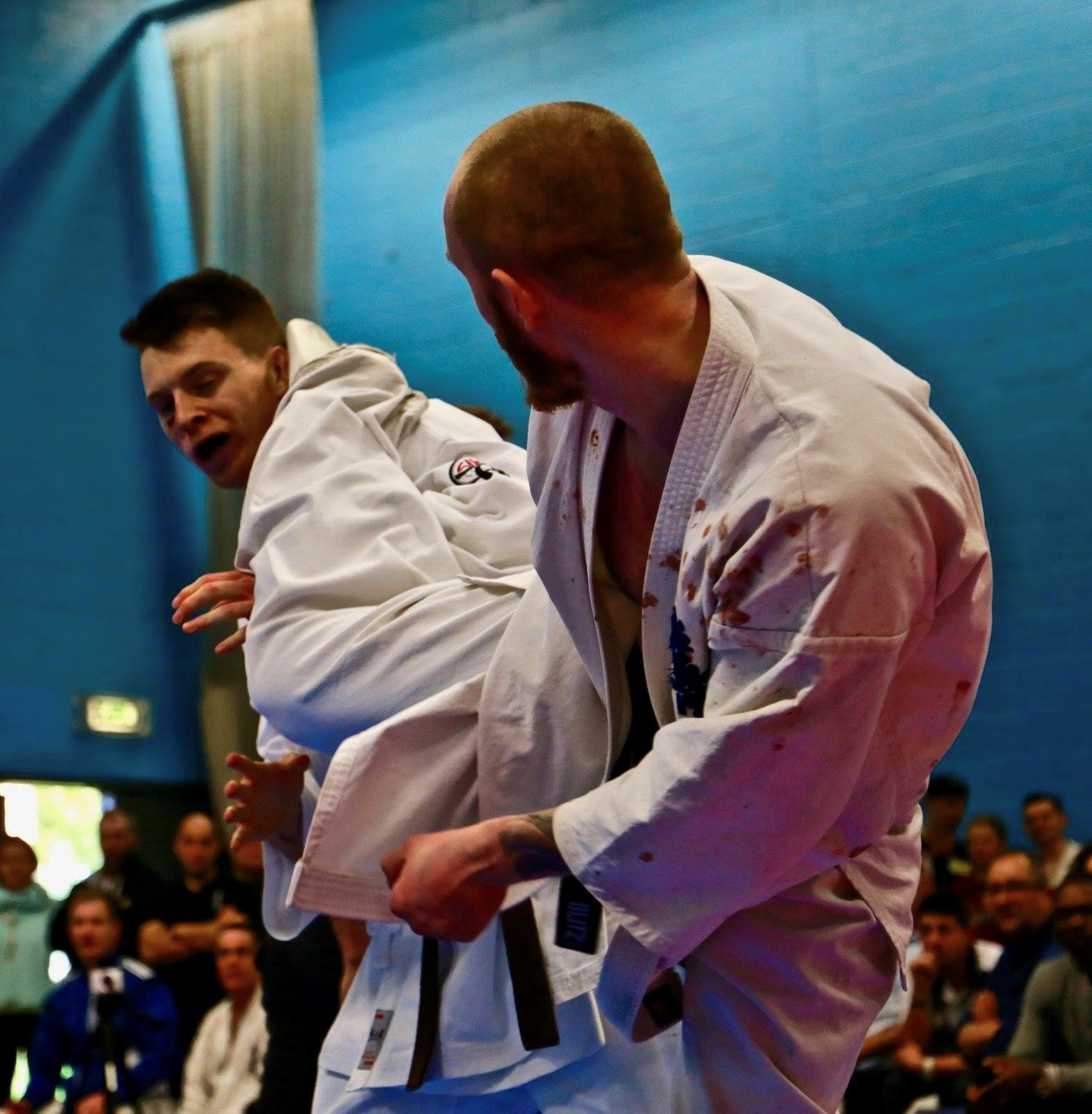 Jim Barton (BKK Verwood) dropping a well timed jodan mawashi geri