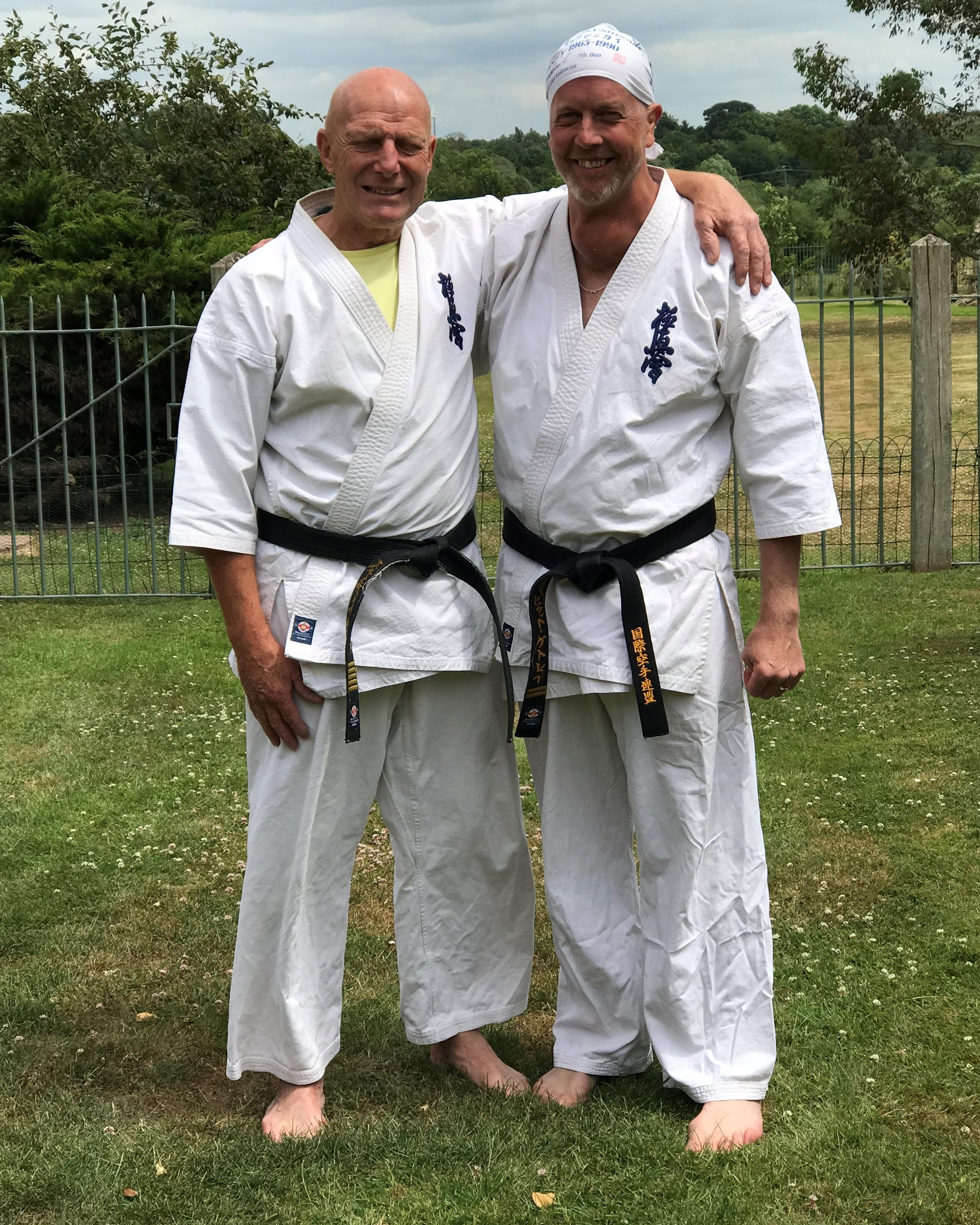 Senpai Dave pictured here at his last training session with Shihan Stuart Wright.