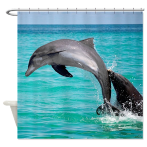 Leaping Dolphin Shower Curtain $59.99