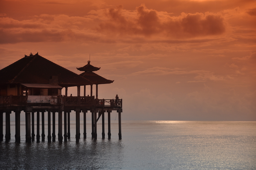 Seafood restaurant overlooking the Bali Sea