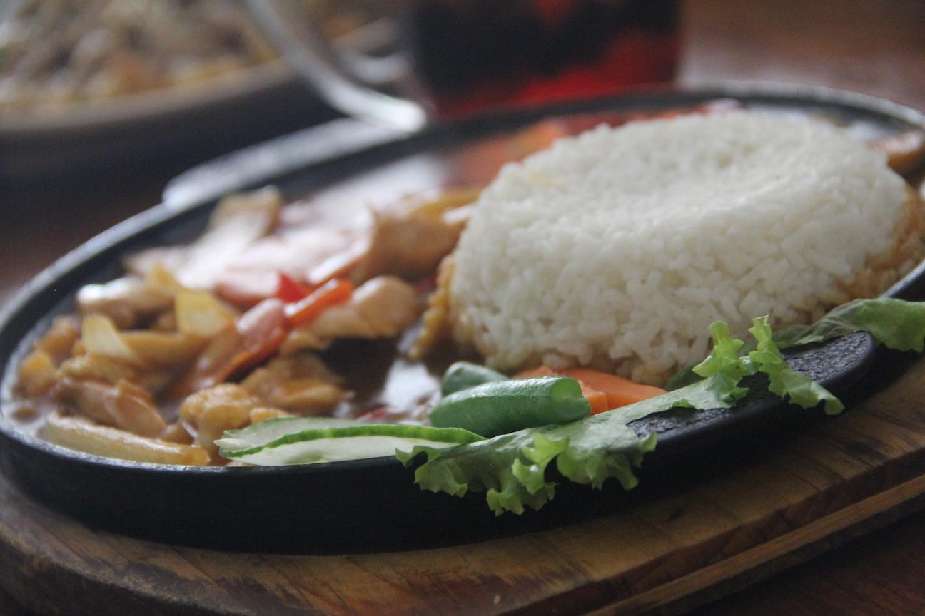 Balinese chicken curry with rice.
