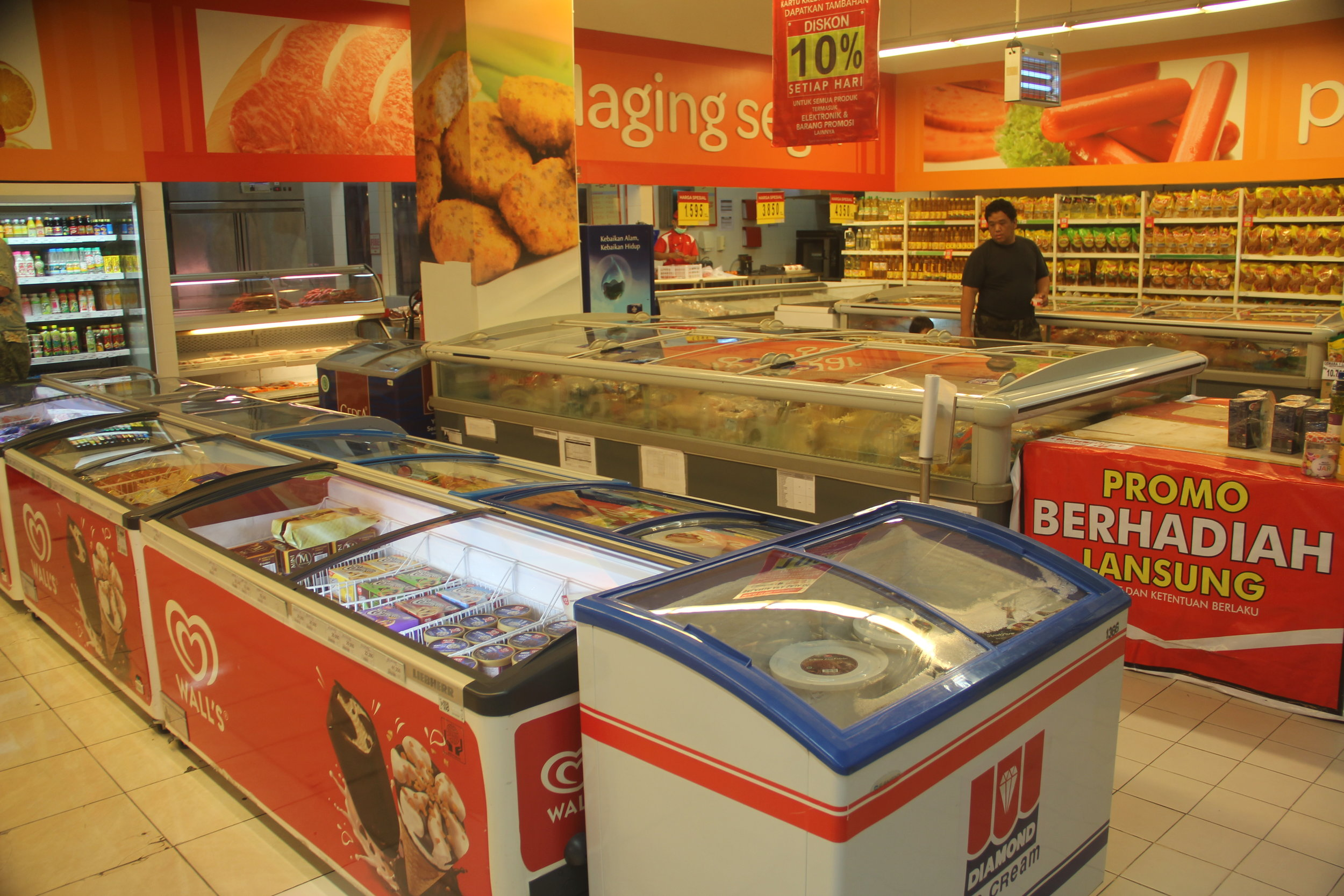 Carrefour Frozen Foods Section