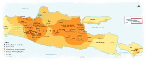 Map of the Medang Kingdom