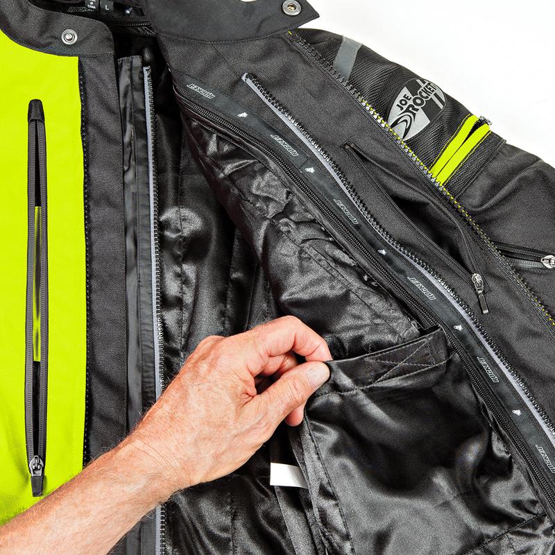 4. Internal chest pocket and liner pocket