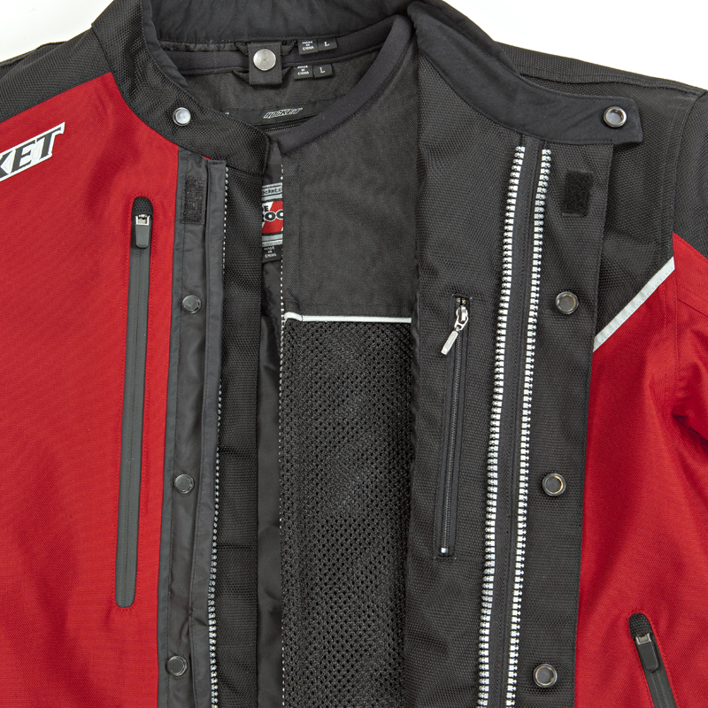 Multi-Layered Jacket. Outer textile layer is easily removed to reveal a armored mesh jacket underneath