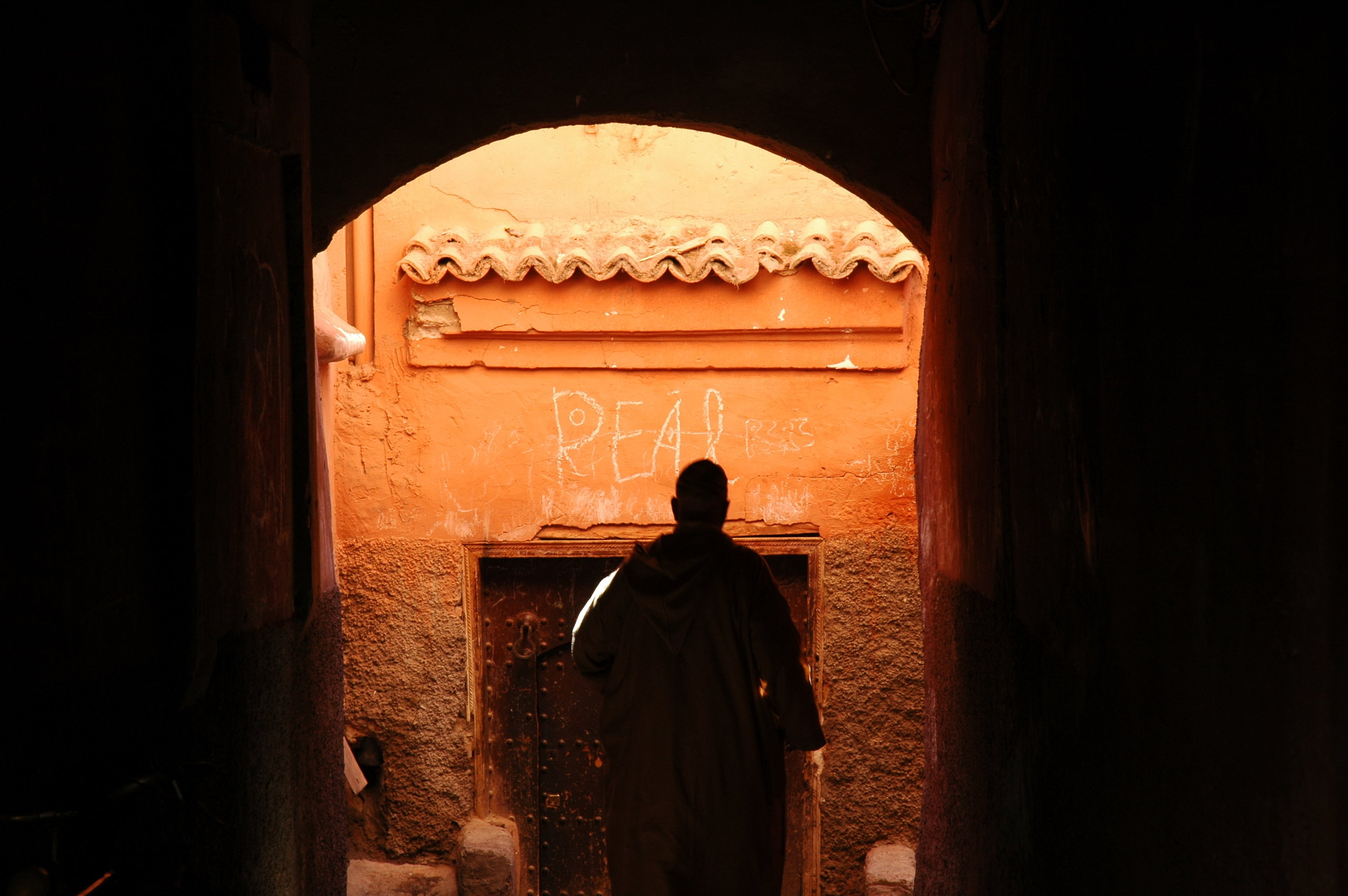 It's like navigating a maze in the passage ways and small streets of the medina in Marrakesh