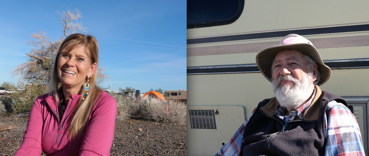 Traveling in Arizona talking with older Americans that travel in RVs, for An American Mosaic.