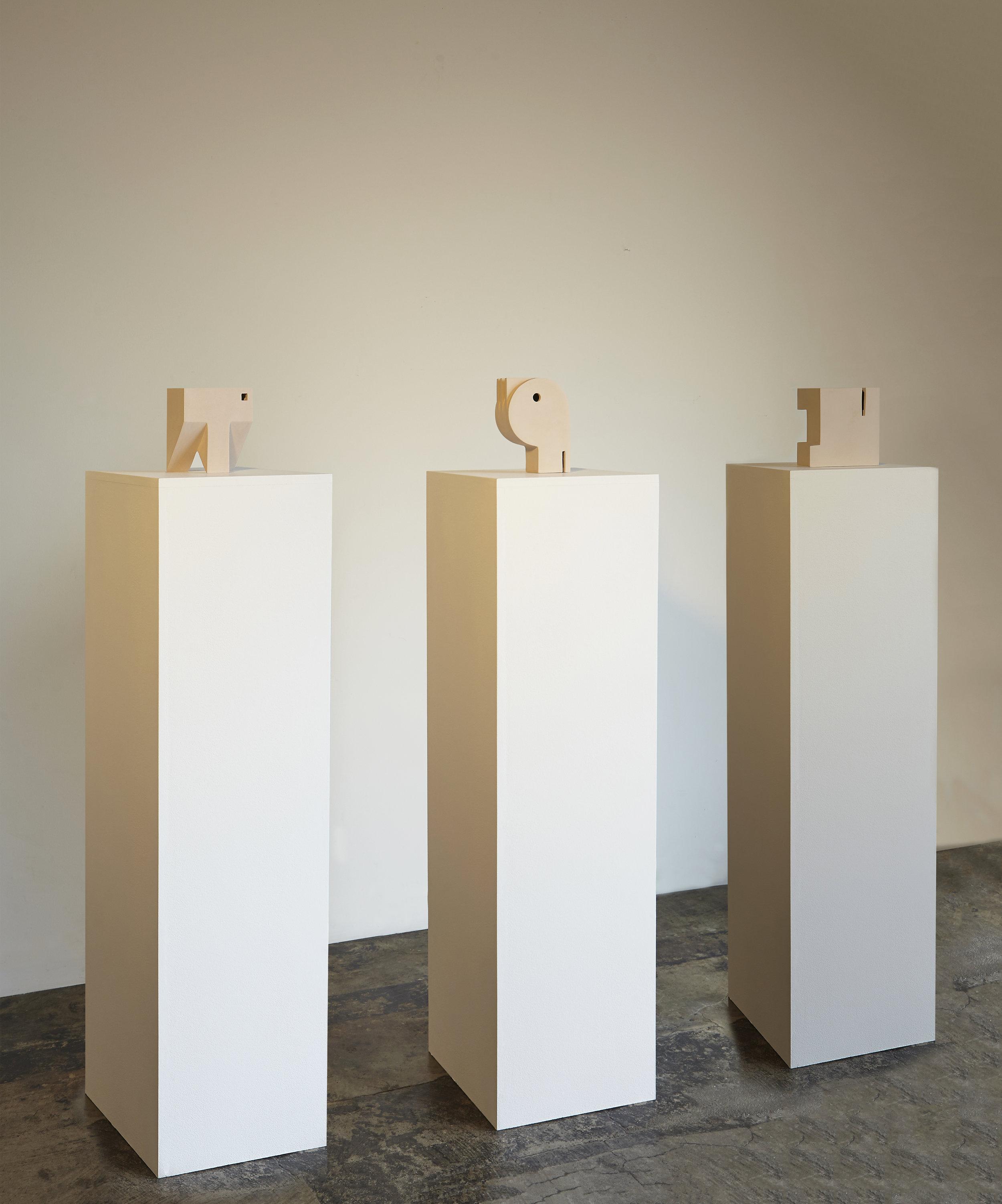 three plinths