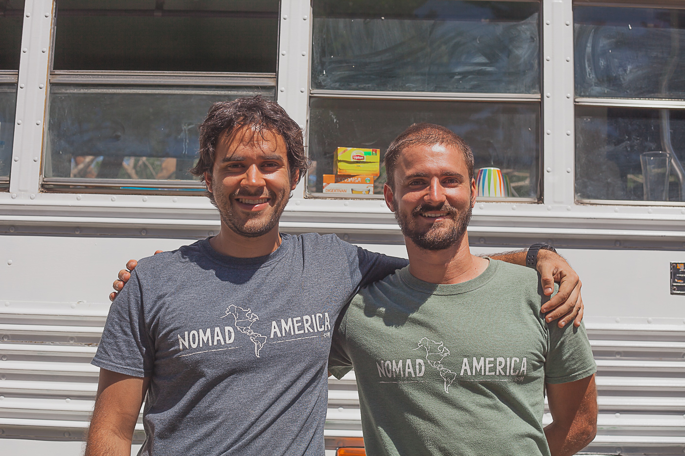 Nomad America - Meet Luis and Fabio two fabulous guys who run Nomad America.  Without them we could not have pulled this fundraiser off.  They are the ones who found our fundraiser family, who put up money to start the project and donated some funds to the cause. Not only were they a great help, but they are great guys. We loved meeting them and feel like we have new friends.