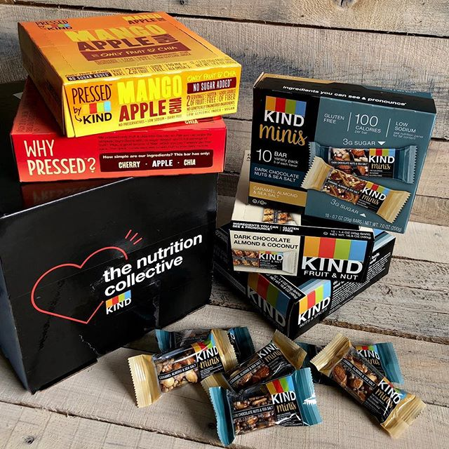 A whole lotta swag from @KINDsnacks—thanks for helping to keep my clients fueled with kindness!