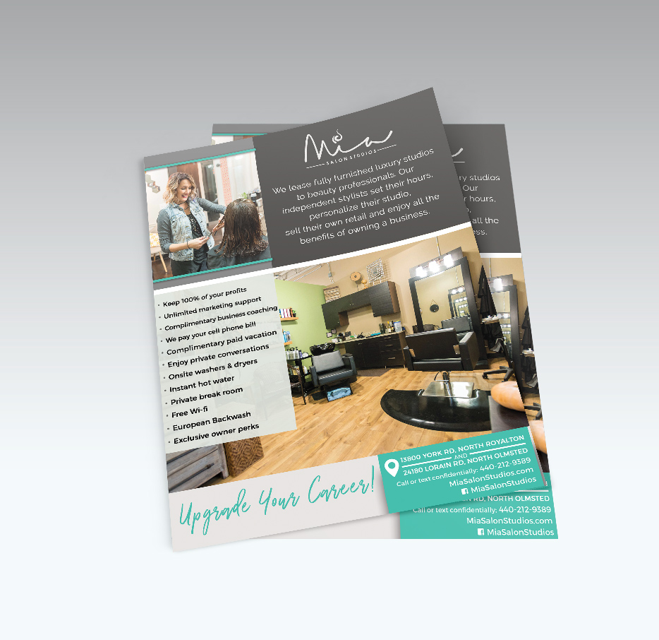 Small Business - Start Up Package - Logo DesignFlyer/Sell SheetBusiness Card - up to 5 staff members, prepped and ready to print*$475*ask us for a printing quote