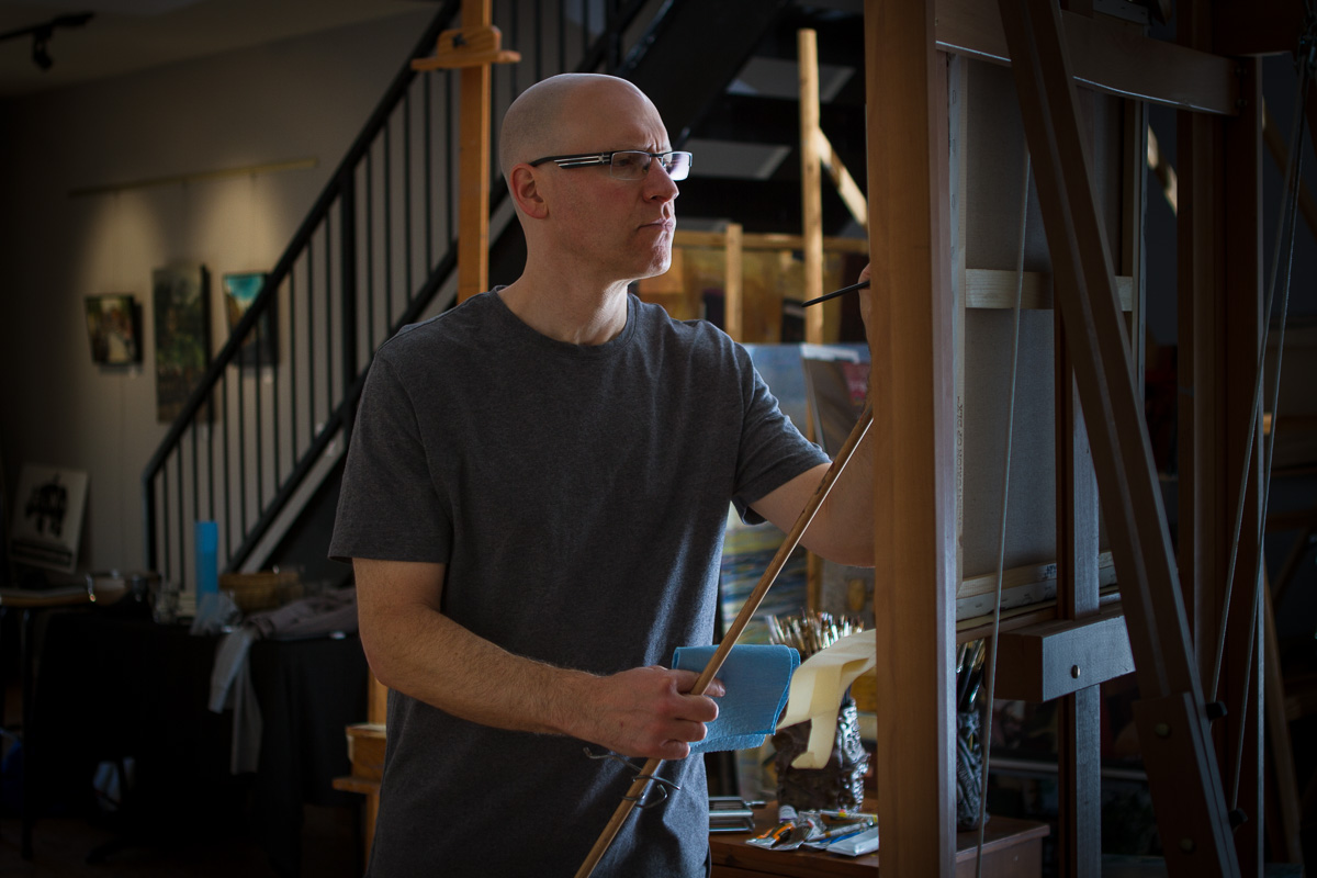 Jared Steinberg in studio