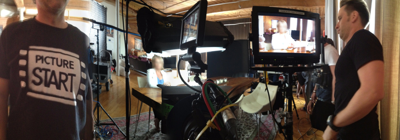 On set for  Scotia shoot last week with Storystream.   First time testing HDRX mode with a RED EPIC camera system and must say I was blown away. Couldn't believe the creative control to make the highlights as full of texture and detail as I'd like or to let them blow out. It's a neat option- the primary image is recorded to one 'track' called the 'A' Track, while a second, user-defined (in terms of stops) track called the X-Track is almost simultaneously recorded. Audio is synced to the A-track. In post with REDCINE-X or a few others apps, you can blend them to your liking and see well beyond the dynamic range of any other system out there. I will post an example of it soon.