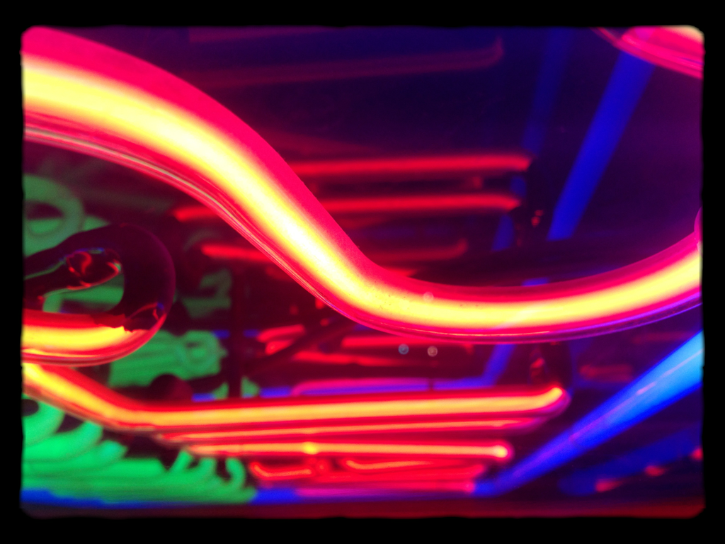 Neon with 645 camera.