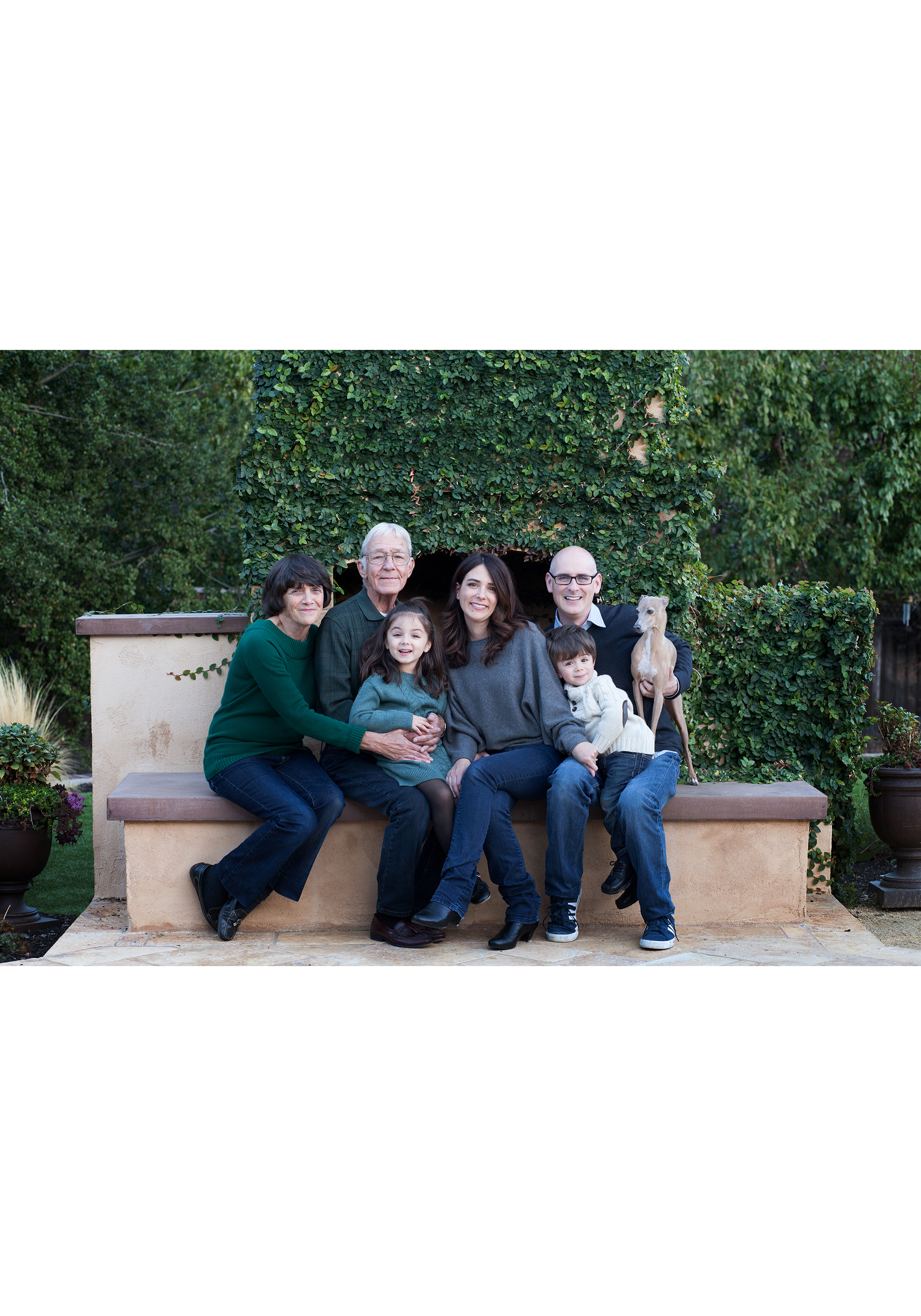Copy of Copy of generational portrait of daughter with parents and grandkids in