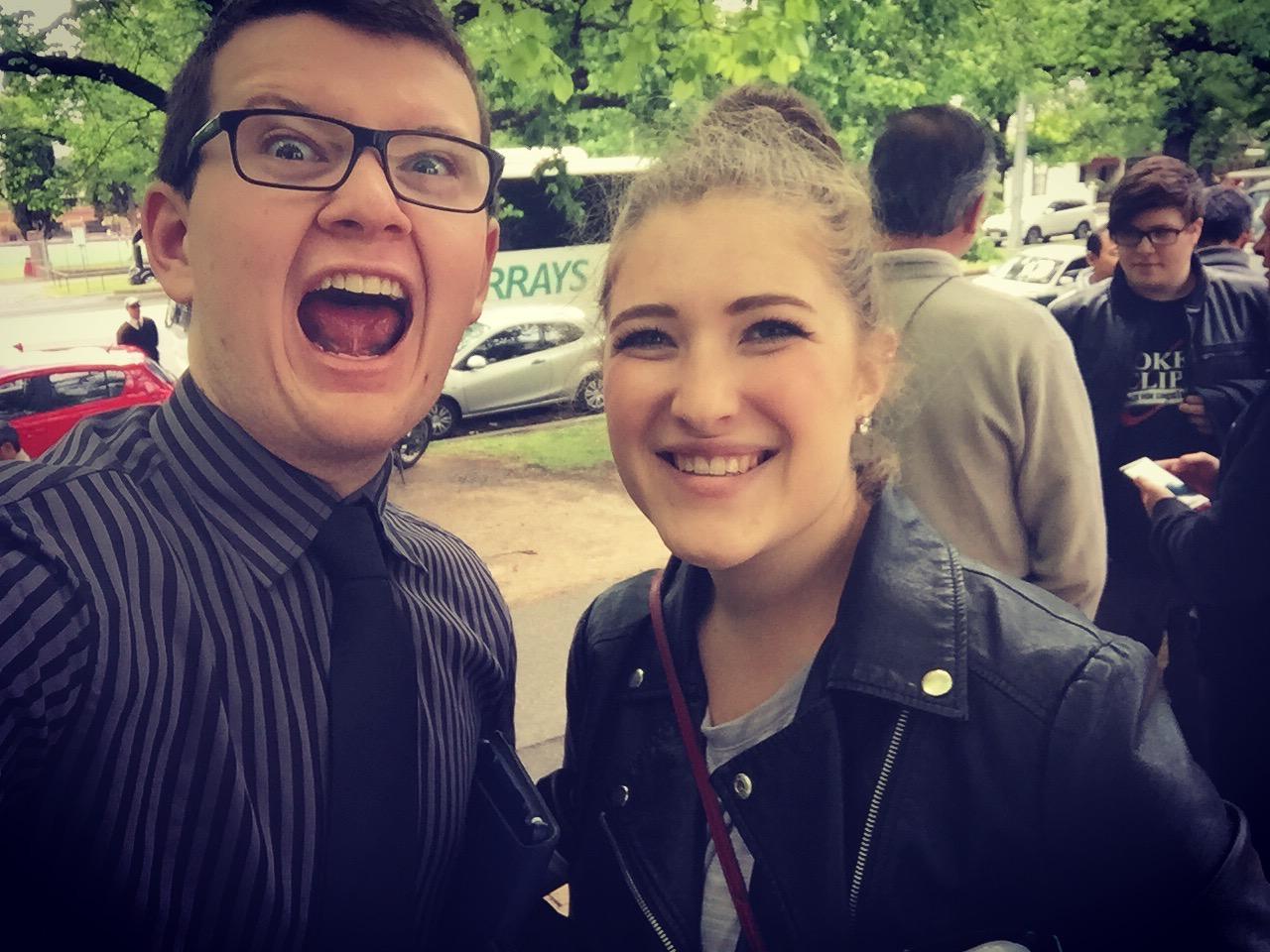 Post-exam selfie with my Girlfriend, Chloe. Image:© Jasen Scott, 2016.
