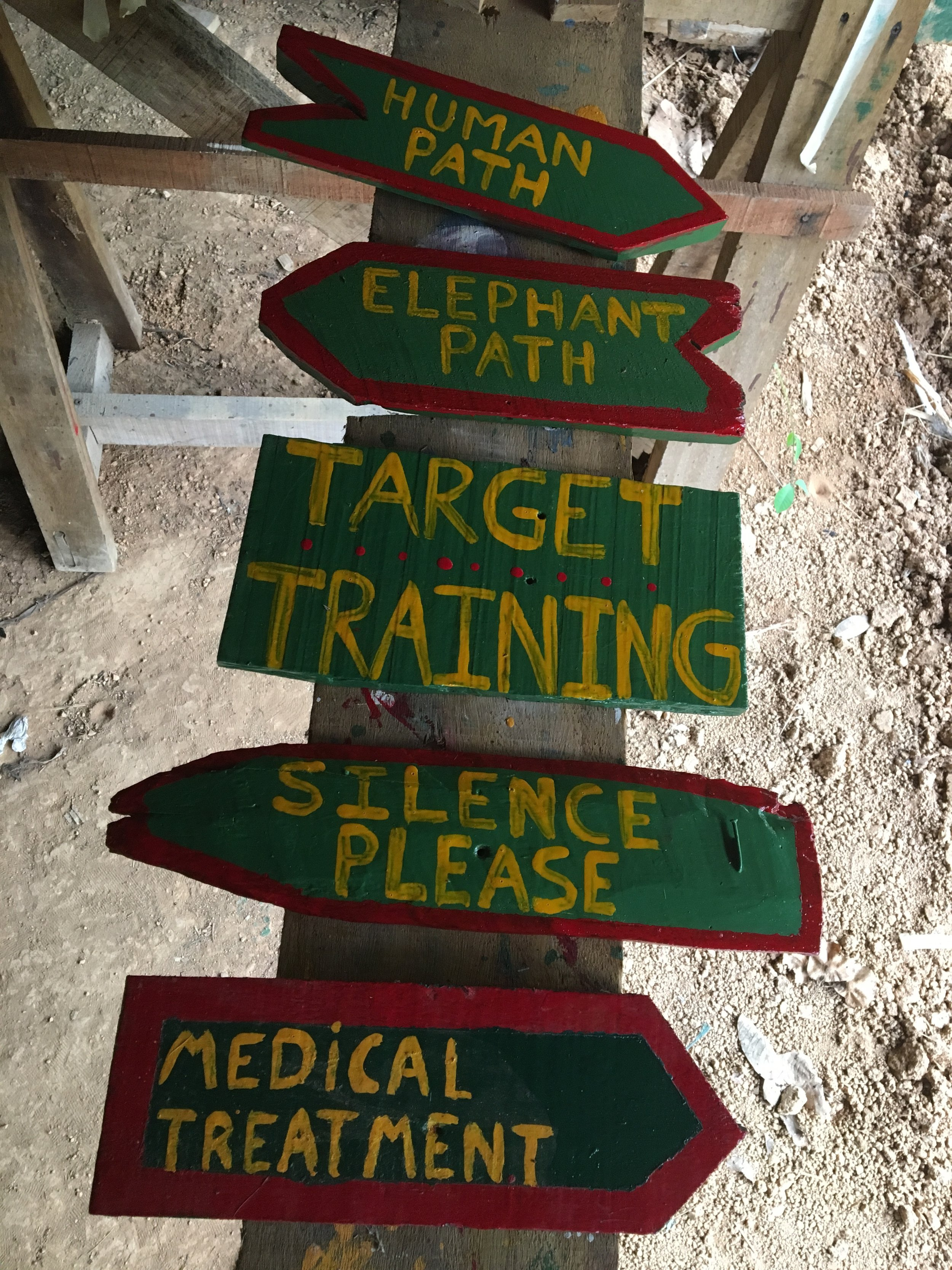 I painted these signs for the EEC. If you visit, you'll likely follow them to places you need to go around the center.