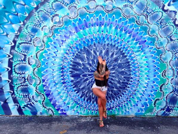 This is a mandala by @hoxxoh in Miami, USA.  I love his work!