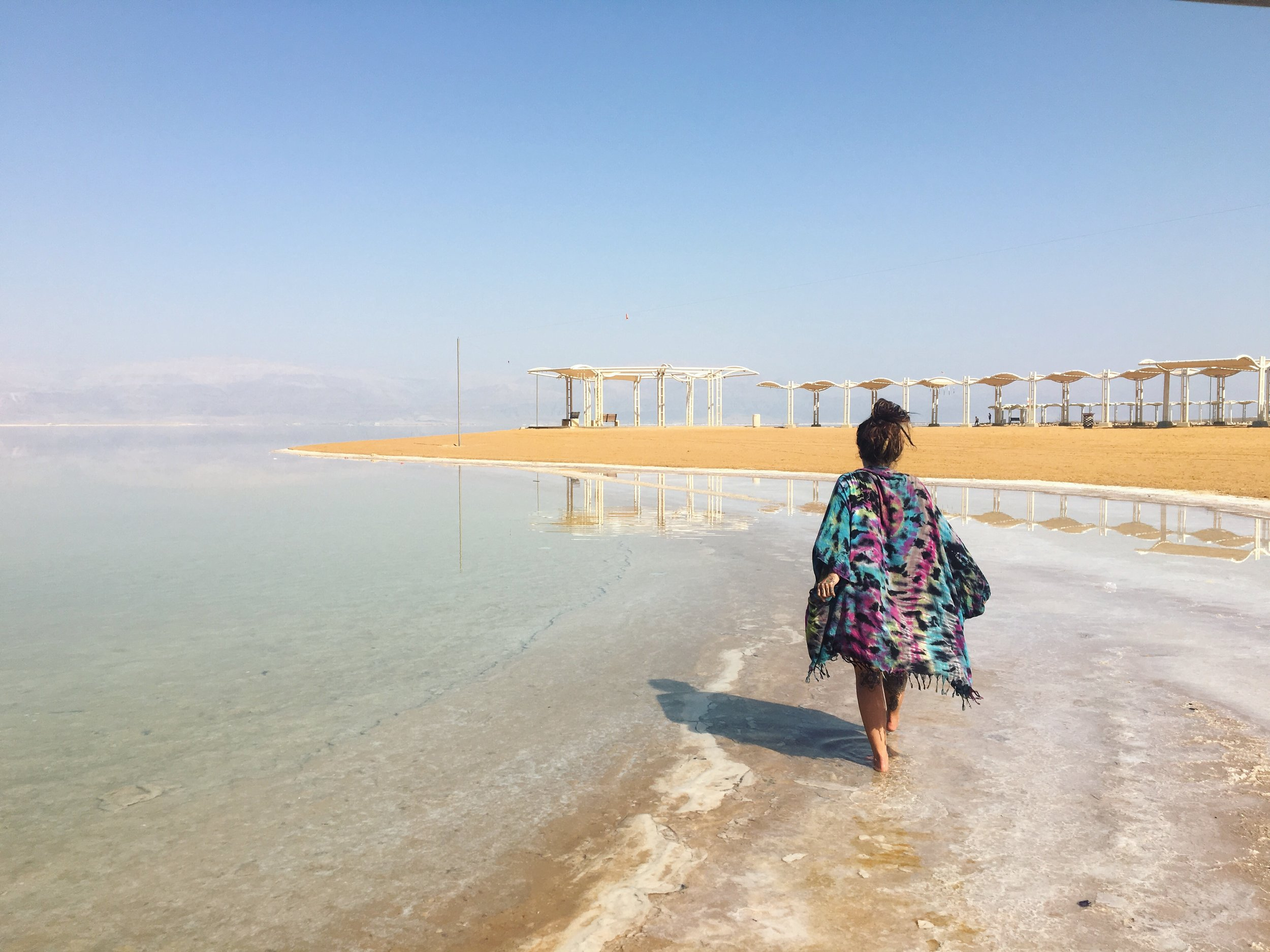 Cover up at the Dead Sea