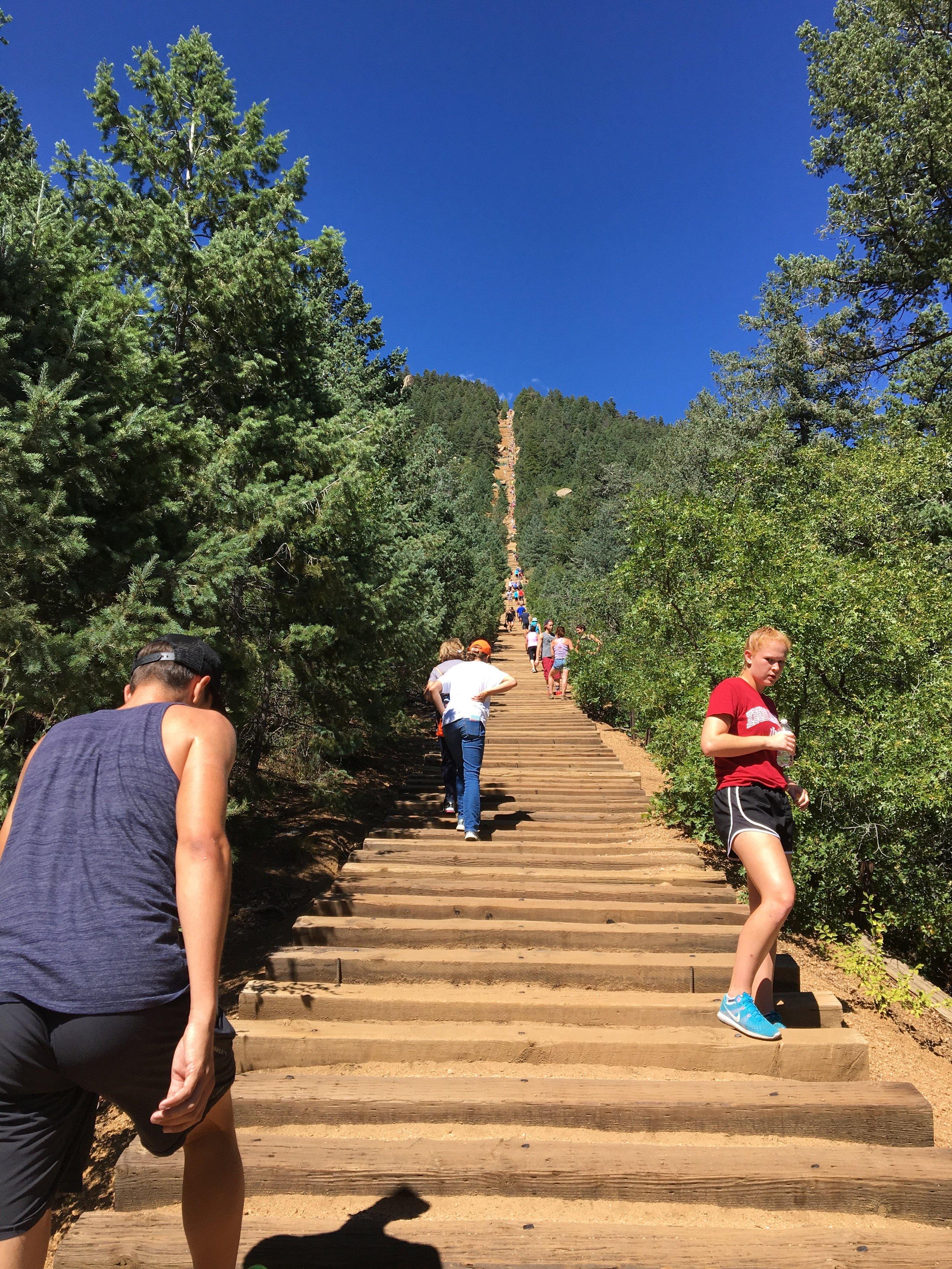 Manitou Incline Hike (2000 ft. vertical climb)