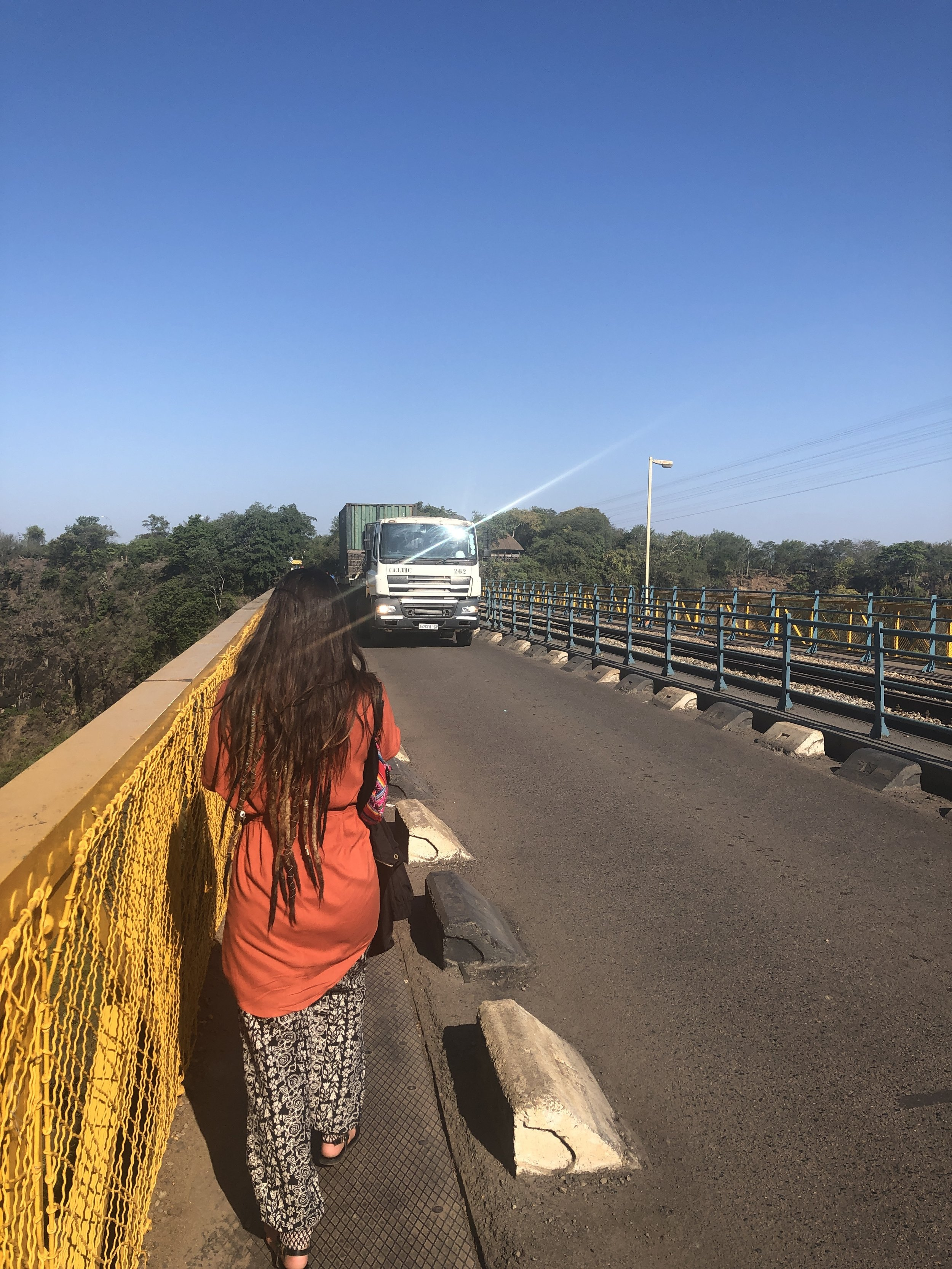 Walking across the border between Zim and Zam, windbreaker (laughable coverage) in hand, because this next part is supposed to be wet.
