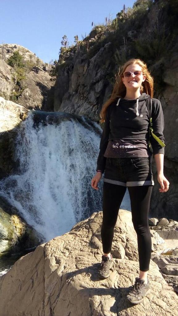 This is Hannah the day she passed. Her belongings and phone were later recovered so we have a few photos and videos like this of her at the falls.