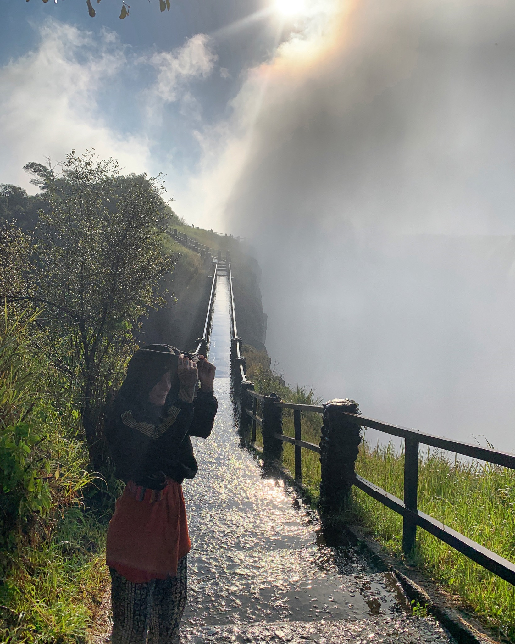 The whole right side of this photo is the falls. And the chick in the photo (me) is feeling quite lost but she's made it this far so there's that.