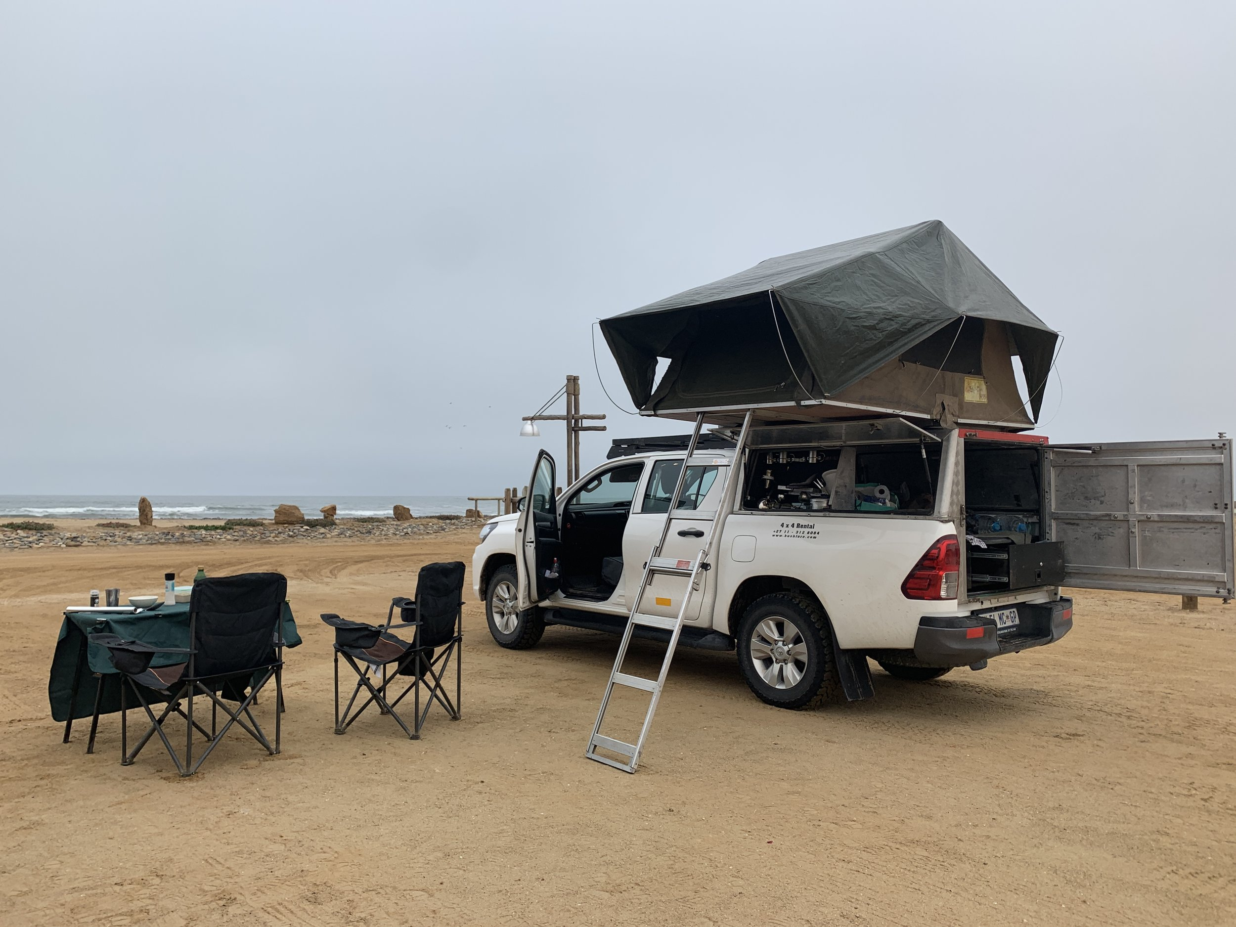 Beachfront campsites