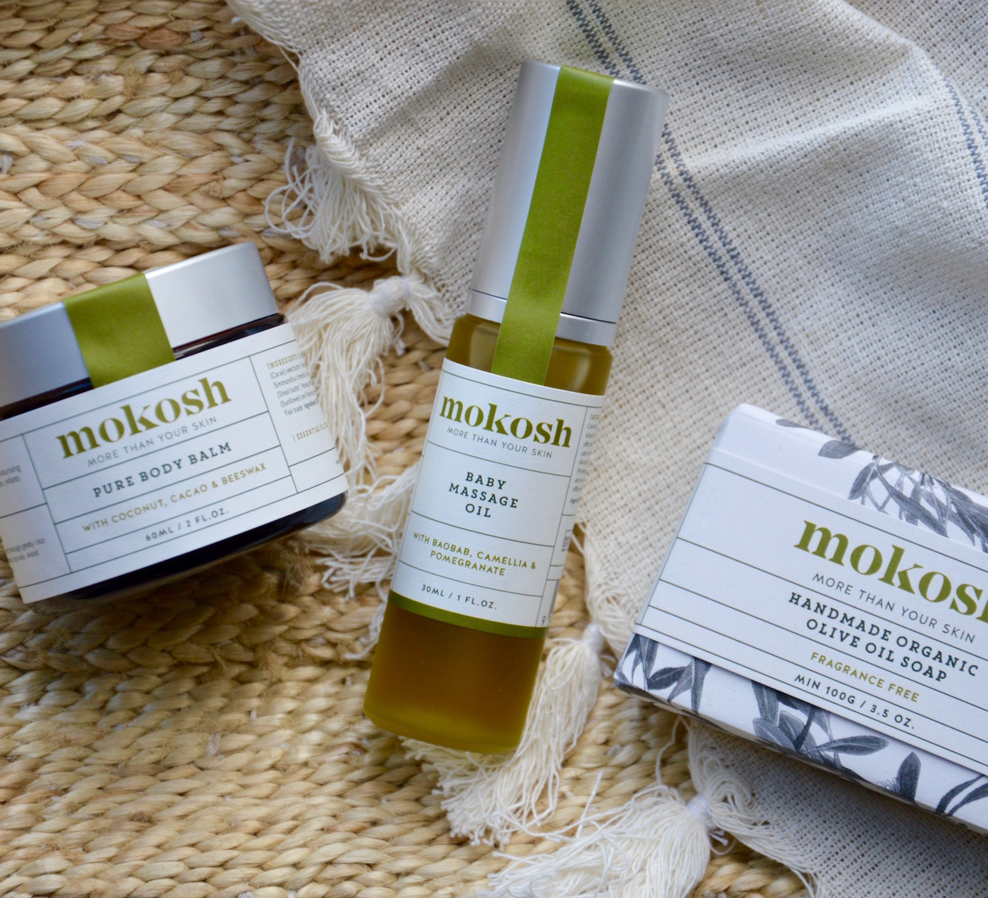 Our certified organic Baby Massage Oil completes our baby range - now we have all you need to care for your baby's skin.