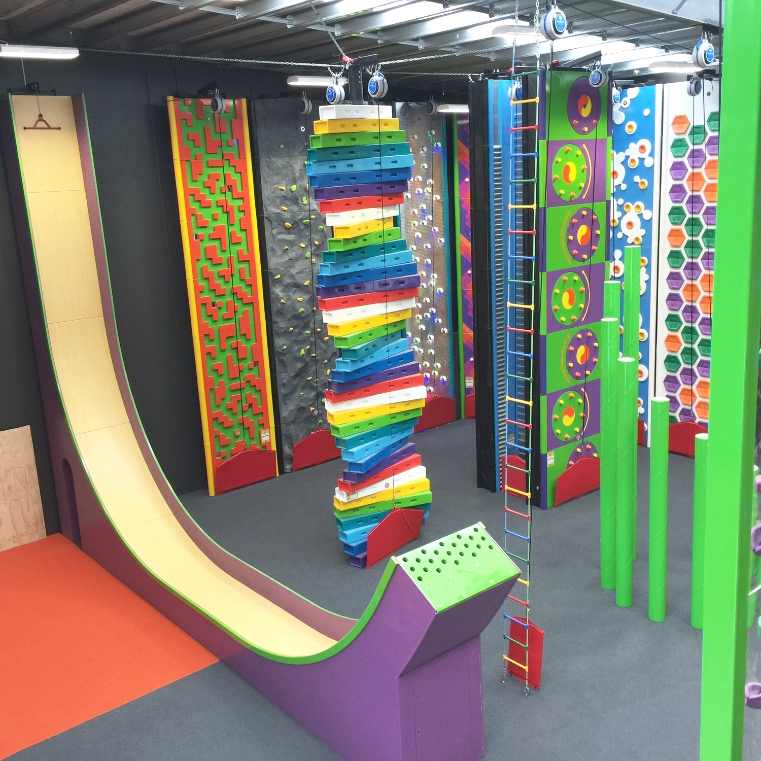 Climbing walls meet theme park in an exciting new leisure concept for all ages and all climbing abilities.