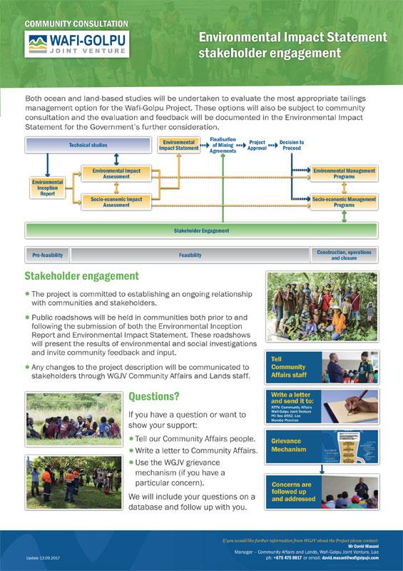 EIS stakeholder engagement -