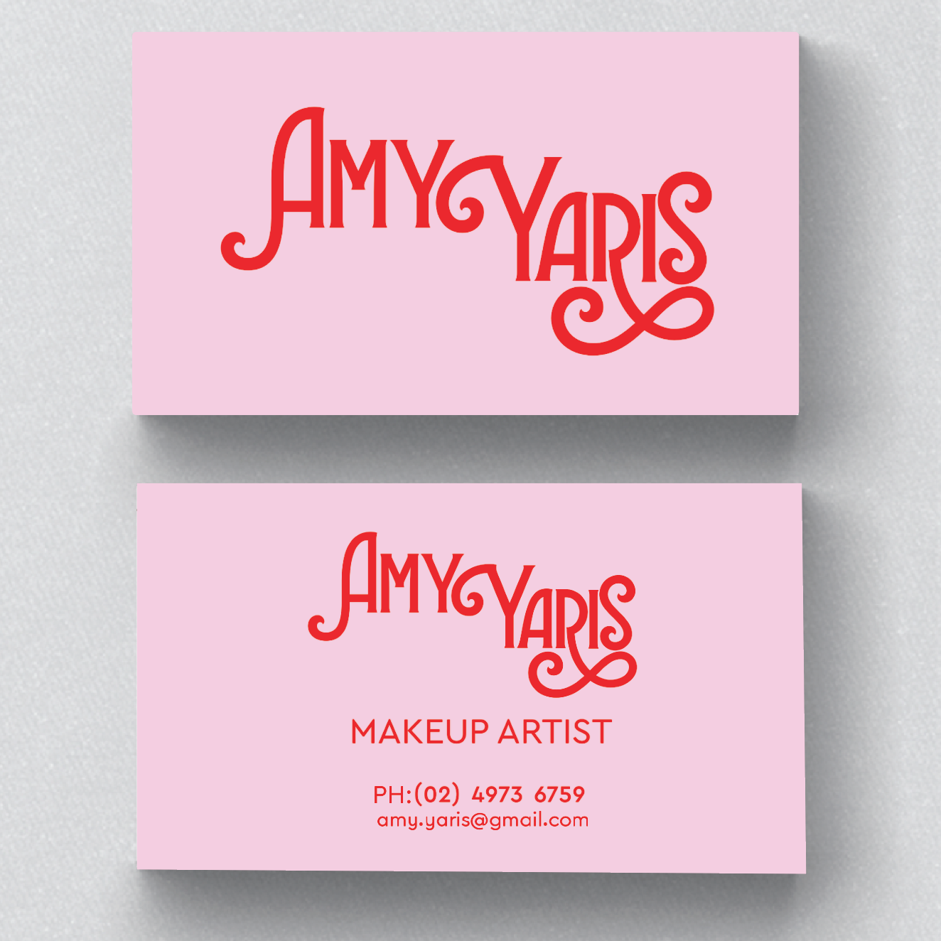 Amy Yaris Business Card Design -